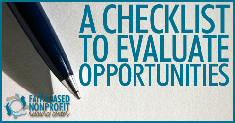 A Checklist to Evaluate Opportunities