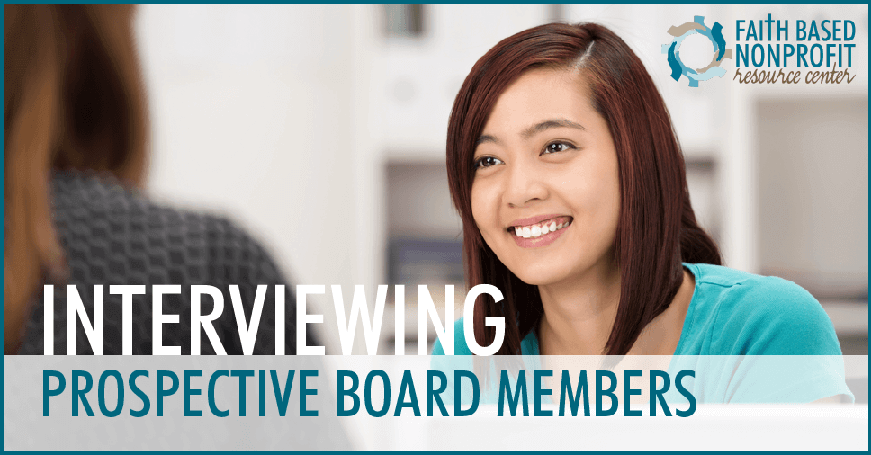 Interviewing Prospective Board Members